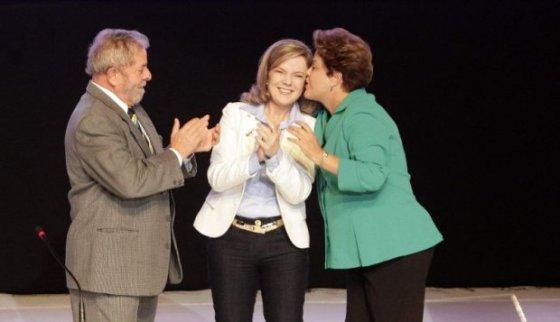 Gleisi Dilma e Lula